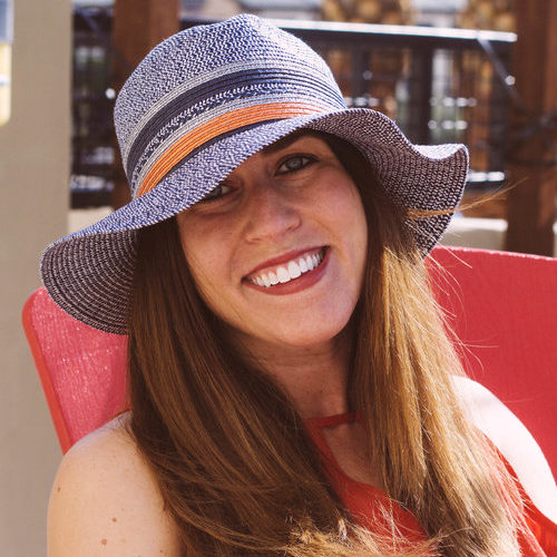 Meghan Hackbarth enjoying the Arizona Sun. Meg Monster Patio, Phoenix, AZ